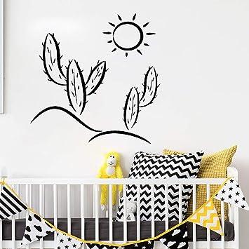 57x57 cm Cactus Sun Nursery Tatuajes de pared Etiqueta de la pared ...