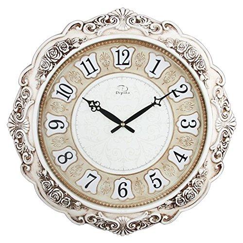 white vintage wall clock - 9