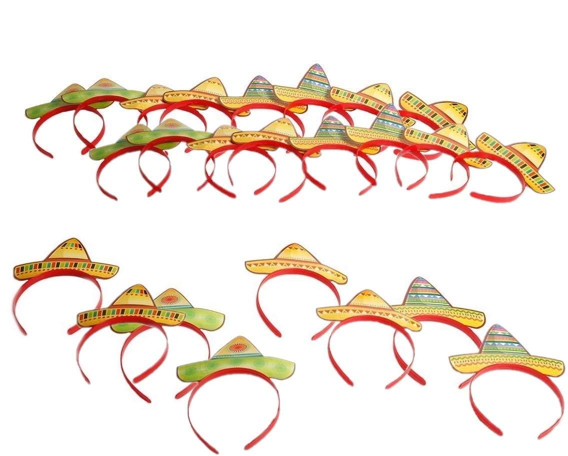 24 Pieces Fun Express Sombrero Party Hat Headbands Fiesta Party Favors