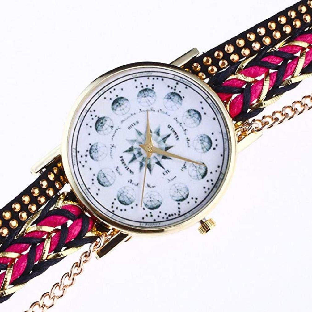 Amazon.com: Windoson Rhinestone Bracelet Watch Women Analog Leather Lady Watches Female Watches (White): Electronics