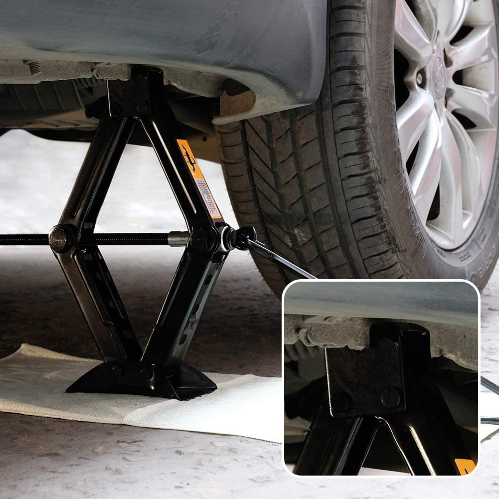 1.5T Crescent Bear RV Stabilizer Jack Scissor Jack RV Jacks and Stabilizers,Support Up to 5000 lbs 2 Pack