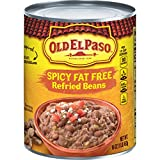 Old El Paso Refried Spicy Beans, Fat Free, 16-Ounce (Pack of 12)