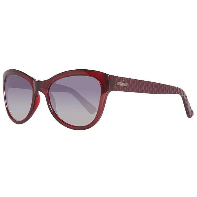 GUESS GU7258-54F64 Gafas de sol, Ovaladas, 54, Rojo
