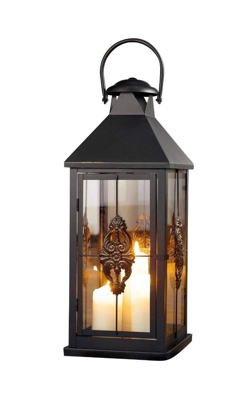 PierSurplus Metal European-Style Hanging Candle Lantern Holder Rustic Wedding Decorations Large 25 in