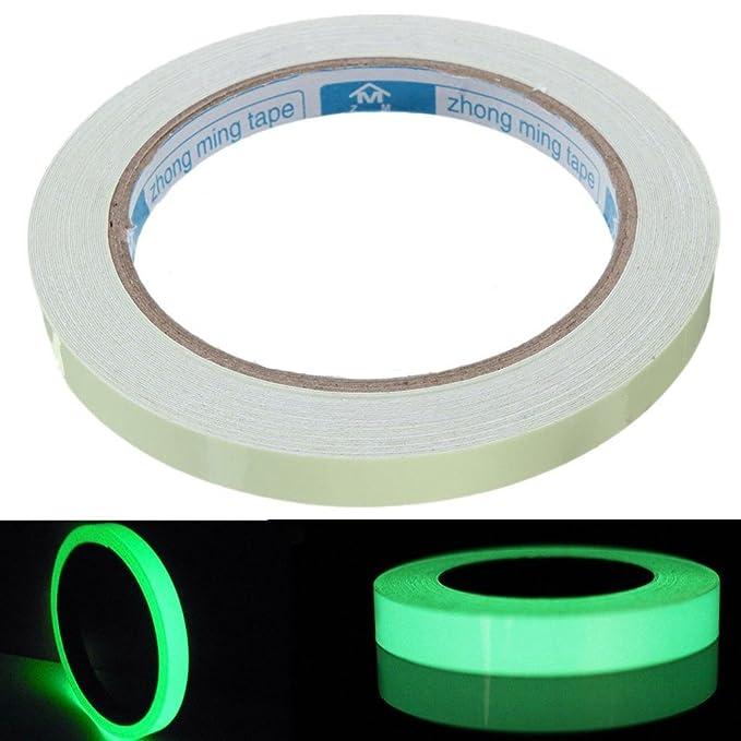 MagiDeal Cinta Autoadhesiva Etiqueta de Seguridad Resplandor Luminoso Verde 5m: Amazon.es: Hogar