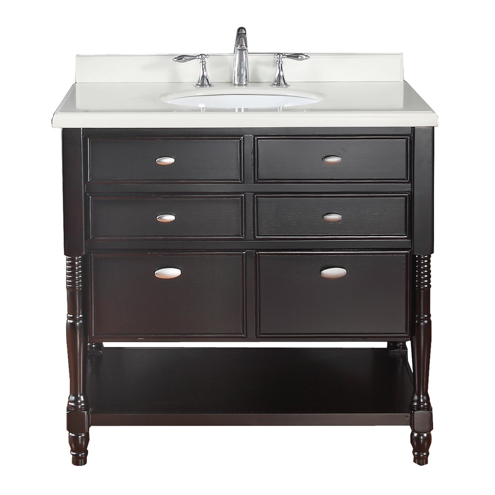 Ove Decors Elizabeth 36 Decors Bathroom Vanity, 36-Inch, Espresso