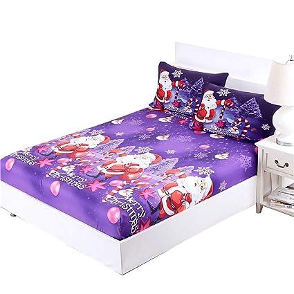 jessyhome christmas sheets sets twin size3d printed cartoon merry christmas santa claus bedding sets - Christmas Sheets Twin