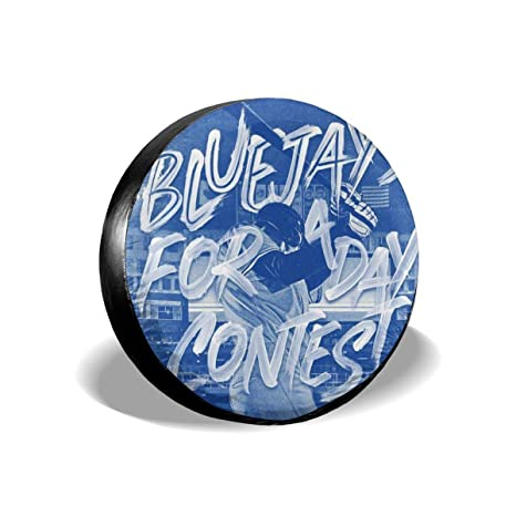 Toronto Blue Jays Tire Sun Protectors Weatherproof Wheel Tire Cover Liberty Spare Tire Cover 15 Inch Waterproof Tire Cover