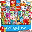 CollegeBox - Snacks Care Package (40 Count) for College Students – Variety Assortment Gift Box Bundle with Treats for Studying and Dorm Rooms – Chips, Cookies, Candy, Final Exams, Valentine's Day