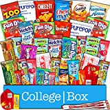 CollegeBox - Snacks Care Package (40 Count) for College Students – Variety Assortment Gift Box with Treats for Studying and Dorm Rooms – Chips, Cookies, Candy and More