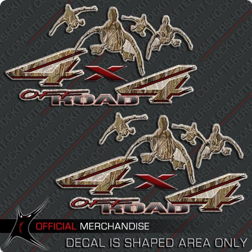 Aftershockit 4x4 Duck Hunting Decal Truck Camo Sticker Set