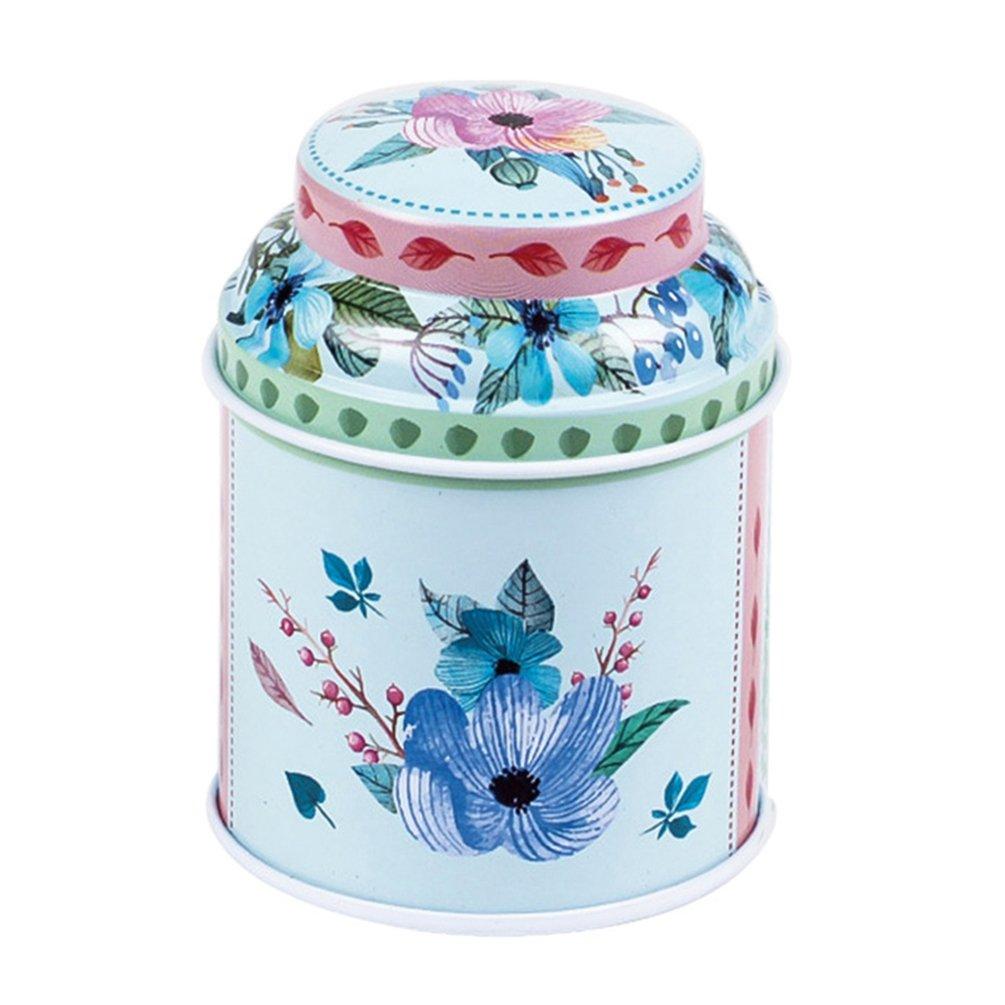 profusion Cercle vintage Fleurs cour Style Designs Tabac Th/é fer blanc Bo/îtes Candy Moules /à biscuits Bo/îte de rangement Container Stash Peut Taille unique Mt-01 Fer-blanc
