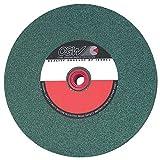 CGW-Camel 35052 8''x 1''x 1'' 80-I Green Silicon Carbide Bench/Ped Grinding Wheel