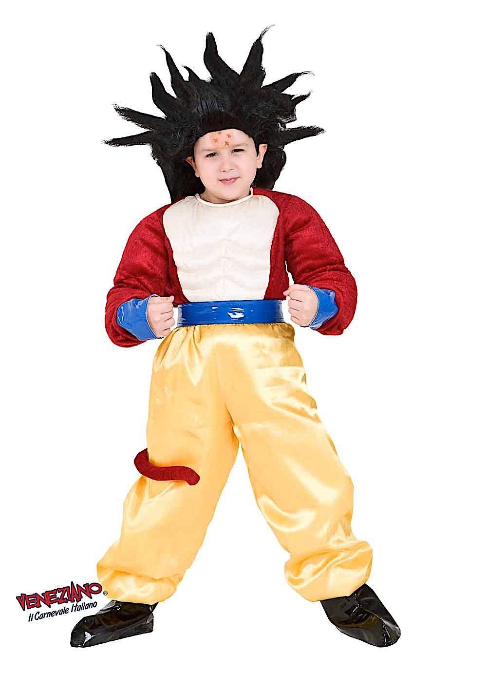 Costume di Carnevale da Dragon GT Vestito per Ragazzo Bambino 7-10 Anni Travestimento Veneziano Halloween Cosplay Festa Party 8115 Taglia 9 L