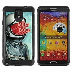 A-type Arte & diseño Anti-Slip Shockproof TPU Fundas Cover Cubre Case para Samsung Galaxy Note 3 III / N9000 / N9005 ( Abstract Astronaut Illustration )