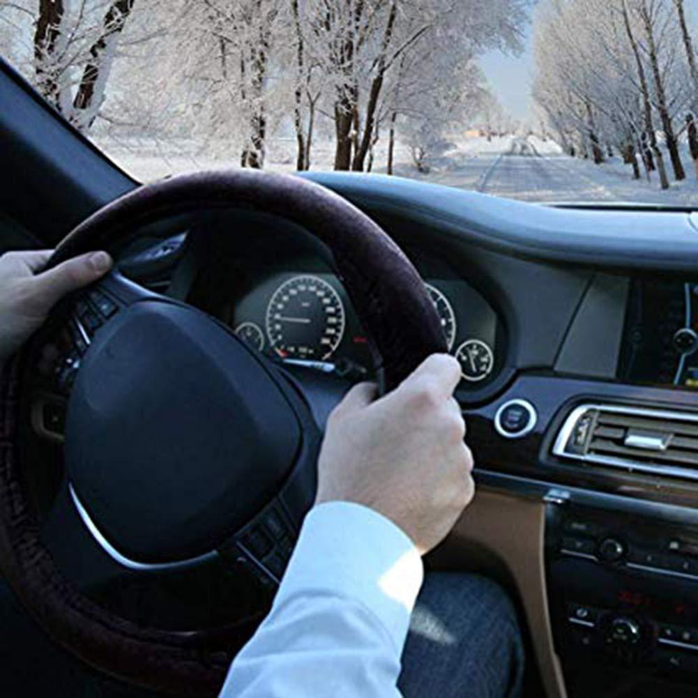 Comtervi lenkradheizung Auto Volante calefactables Protectora Antideslizante F/ácil Instalaci/ón Universal Ajustable Volante Calentador 12/V