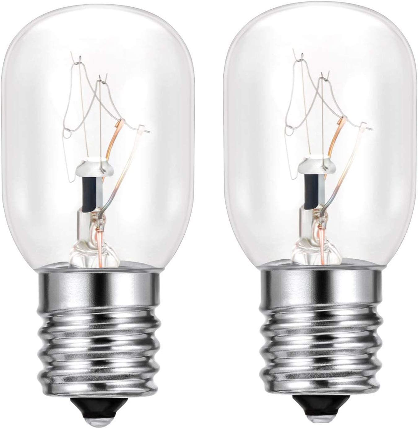 2 Pack- 8206232A Light Bulb for Whirlpool 40 Watt E17 130V