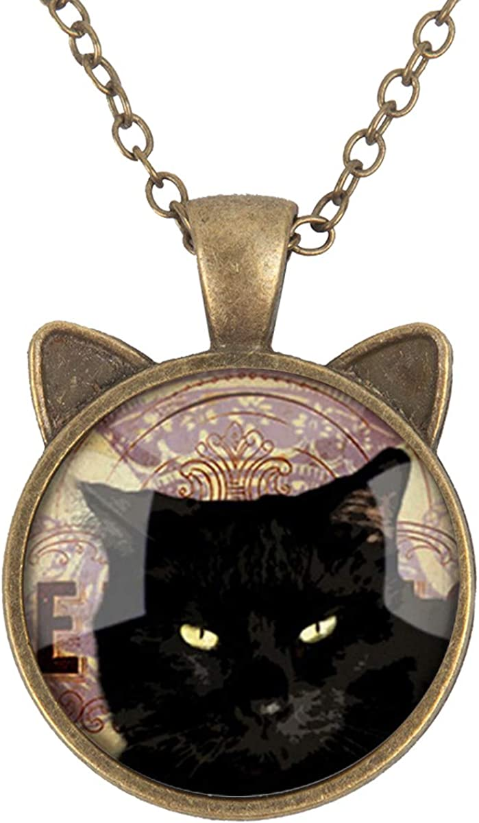 Cat Boss LooPoP Cat Pendant Necklace Jewelry for Women Kids Gifts Included Free Charm Chain