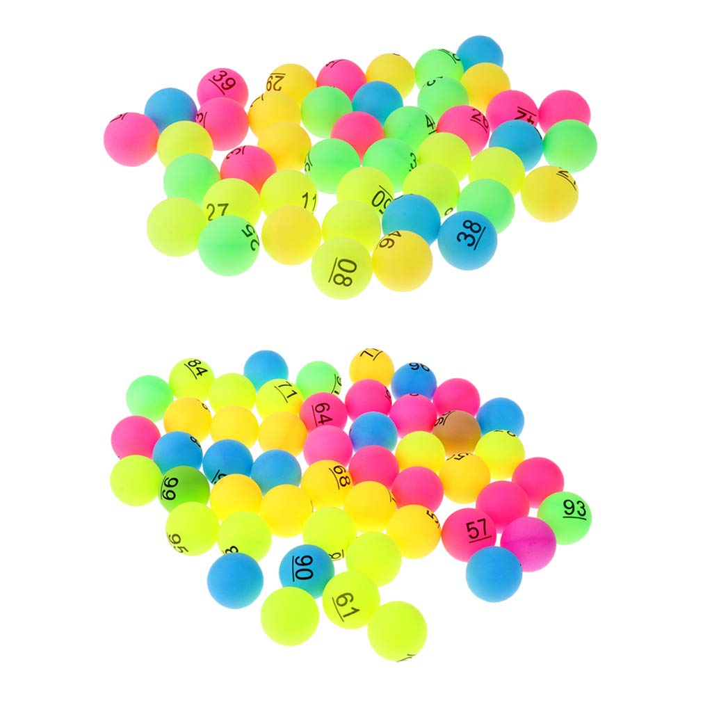 Baoblaze 100Pcs Table Tennis Ping Pong Balls Beer Pong Balls Number 1-100