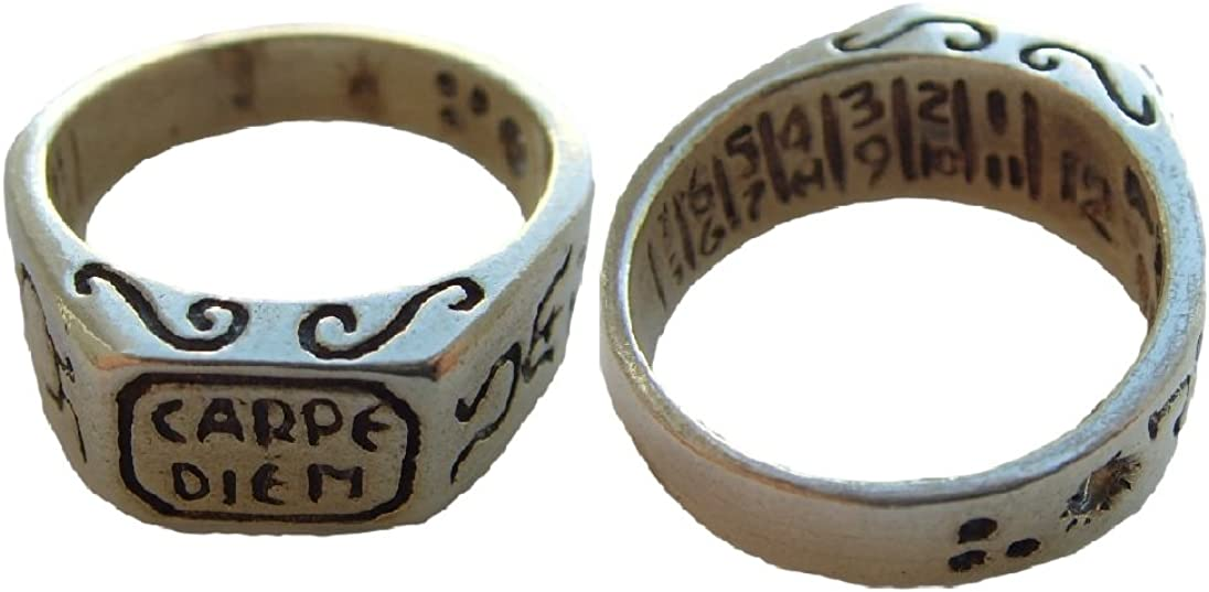 Carpe Diem Seize the Day Sterling sundial Silver 925 RING ALL SIZE