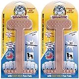 Bullibone Nylon Dog Chew Toy Peanut Butter XL Nylon Bone - 2 Pack- Improves Dental Hygiene, Easy to Grip Bottom, and Permeated with Flavor