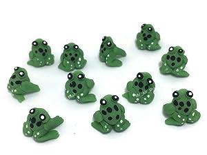 Lot of 12 Miniature Frog Fairy Garden Supplies Animal Figurine Furniture Dollhouse GD#002