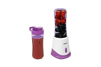 Medion MD 18044 - Batidora de vaso, 175 vatios de potencia, incluye dos tazas para mezclar o beber, tapa con cierre, color verde: Amazon.es: Hogar