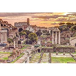 "The Roman Forum, Rome, Italy - Poster / Print (Forum Romanum - Assaf Frank) (Size: 36"" x 24"") (By POSTER STOP ONLINE)"