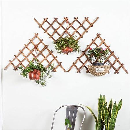 Enrejado de madera para jardín Marco de rejilla decorativa multifuncional Triángulo anticorrosión Rejilla extensible para trepar enrejado Enrejado Patio trasero de jardín con valla decorativa: Amazon.es: Hogar