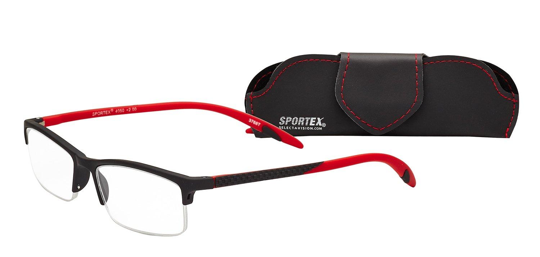 85ad515617 Amazon.com  Sportex Readers Rectangular Reading Glasses Men s Semi ...