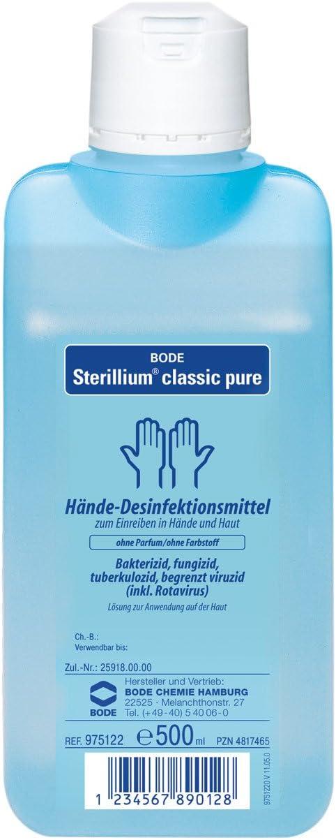 Sterillium Classic Pure Handedesinfektion 500ml Amazon De