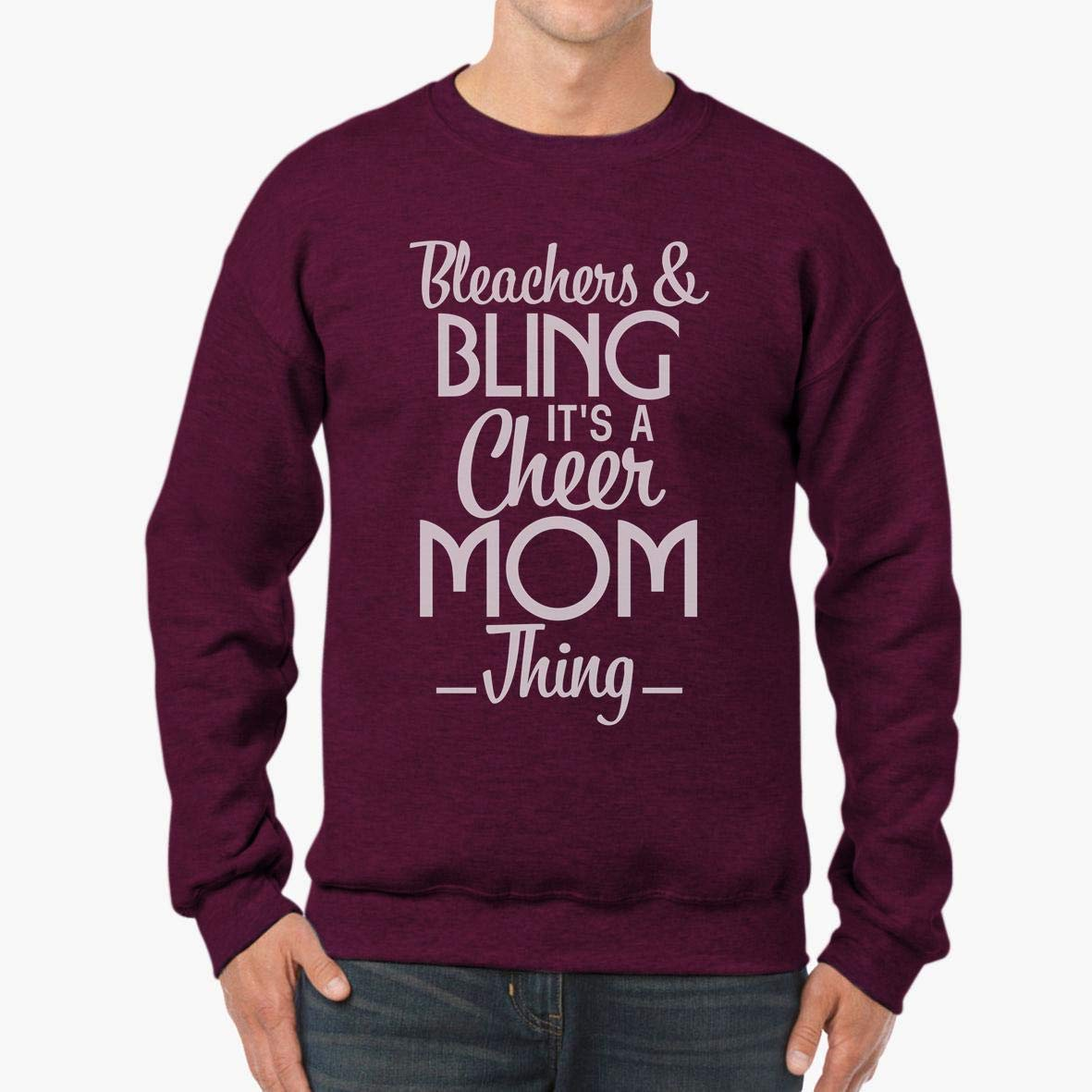 tee Bleachers and Bling Its a Cheer Mom Thing Unisex Sweatshirt
