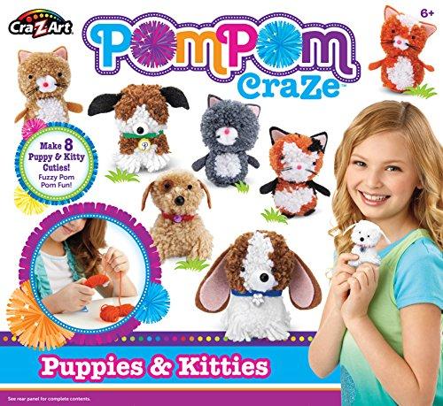 Cra-Z-Art Pompom Puppies and Kitties Crafts Kits]()