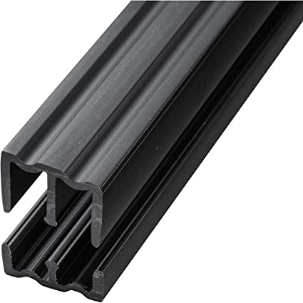 Attrayant Black   4 Foot Plastic Sliding Door Track