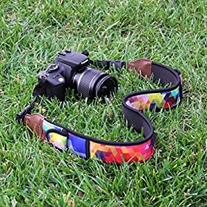 TrueSHOT Camera Strap with Quick Release Buckles by USA Gear - Works with Canon EOS Rebel T6i , 7D , PowerShot SX410 IS and More DSLR , Mirrorless , Instant Cameras from USA GEAR