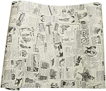 Papel Adhesivo De Periódico Vintage De Vinilo Revestimiento Para Cajones Muebles Artes Manualidades Decoración Del Hogar De 60 X 300 Cm Amazon Es Hogar