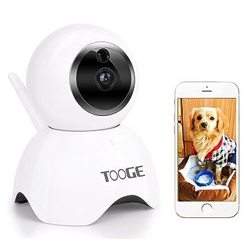 WiFi Cámara, cámara de seguridad cámara IP 720p cámara interior de vigilancia inalámbrica tooge niñera