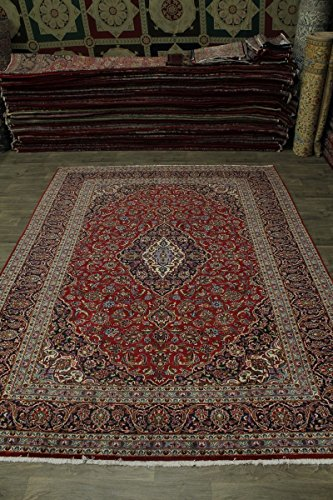 - Beautiful Handmade Traditional Red Kashan Persian Style Area Rug Oriental Carpet 10X13