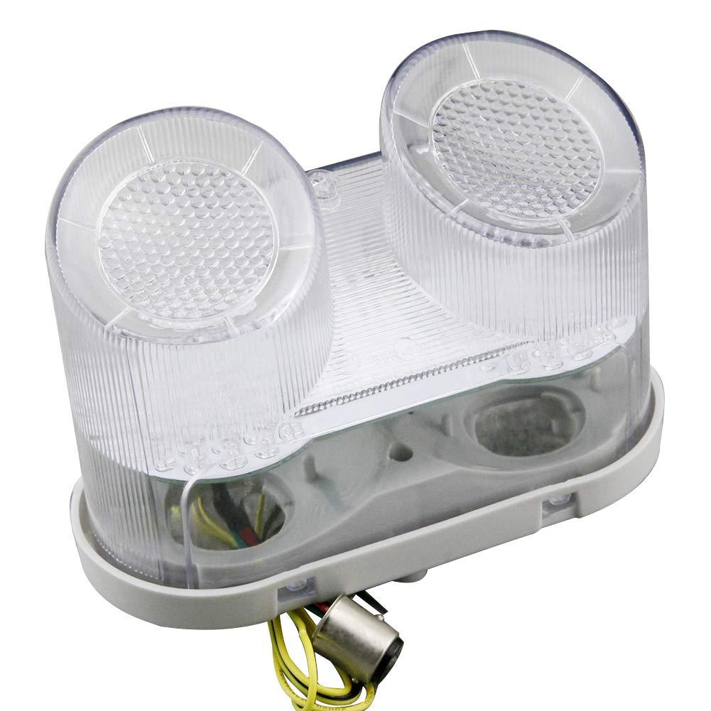 GZYF Integrated LED Turn Signals Tail Light for Yamaha YZF R1 00-01 FZ1 01-05 Smoke