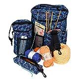 Knitting Bag - Yarn Tote - Crochet Storage & Knitting Accessories Organizer,Tangle Free Set of 3 Crocheting Bags Lots of Space & Pockets.Yarn Organizer Crochet Bag with Knitting Accessories Case