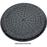 Clark Drain CD452 450mm diameter Polypropelyne 3.5T locking Manhole Cover and frame