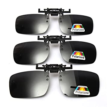25c73475898 Cosprof Polarized Lenses Flip-Up Clip On Sunglasses UV400 Driving Outdoor  Glasses  Anti-glare  Driving Fishing Eyewear