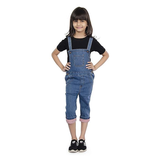 Olele Kids Denim Dungarees For Girls Full Length Denim Dungaree For Girls Boys Jumpsuits For Kids Girls T Shirt Not Included