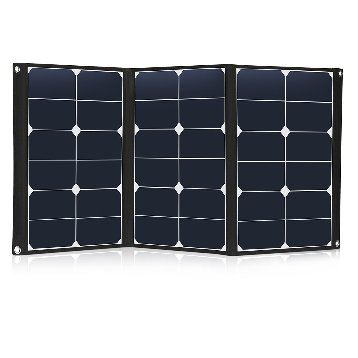 60 Watt Portable Solar Panel Charger Foldable Sunpower 18V 12V Solar Charger with MC4 Connector and Dual-port Output (USB 5V + DC 18V) for Hiking, Camping, Solar Generator, RV, Boat TCXWSP