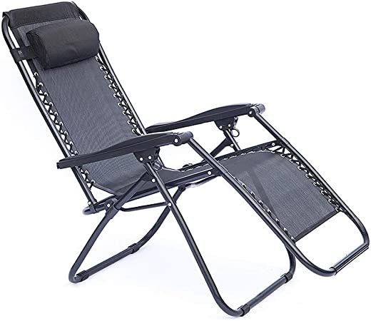 MLTYQ Chaise, chaises Pliantes Zero Gravity Transat