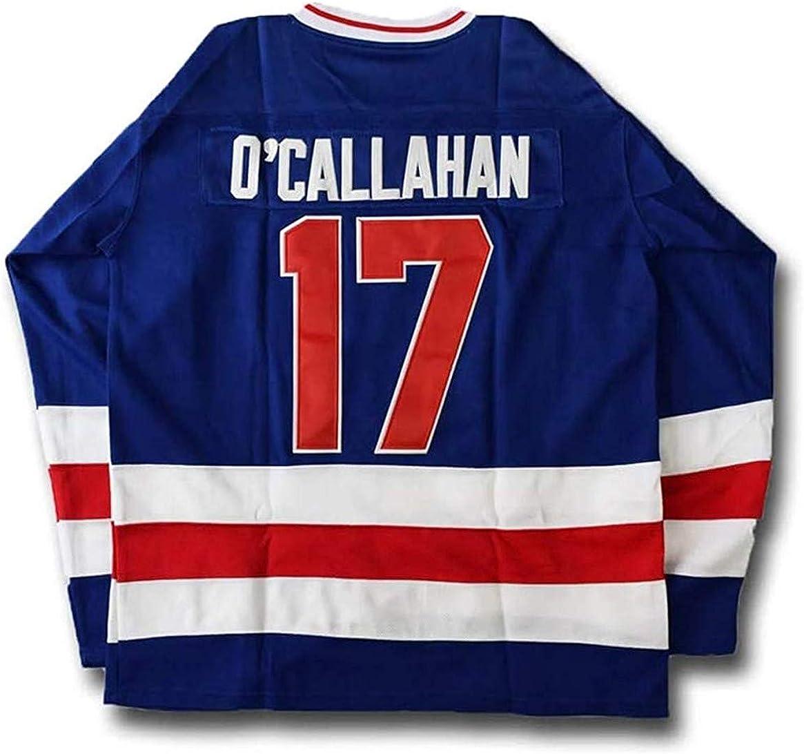 1980 Miracle on Ice Hockey Movie Jersey Jack O'Callahan 17 USA Ice Hockey Jersey Stitched …