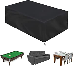 Color You Patio Furniture Covers, 8FT Pool Table Cover, Water Resistant Outdoor Furniture Set Covers, Heavy Duty Patio Table Cover, Patio Covers for Outdoor Furniture Table, Sofa, Chair Set