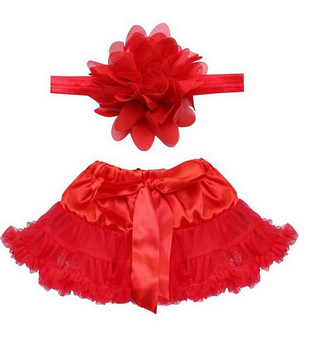 Happy Cherry Bebés Niñas Falda Tutú con Diadema de Flor Prop Trajes Apoyo para Fotografía Tomar Fotos Aivtalk PP23BK1026