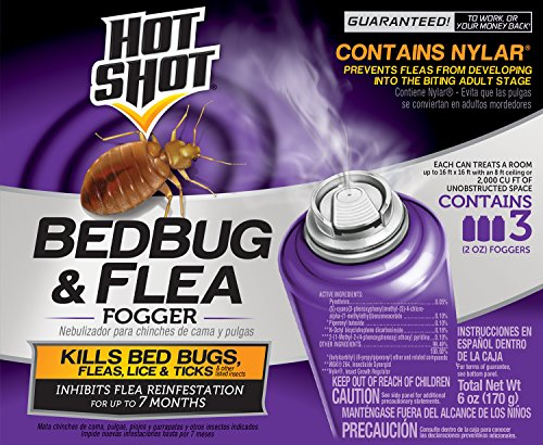 Hot Shot Bedbug & Flea Fogger, 3/2-Ounce, 6-Pack