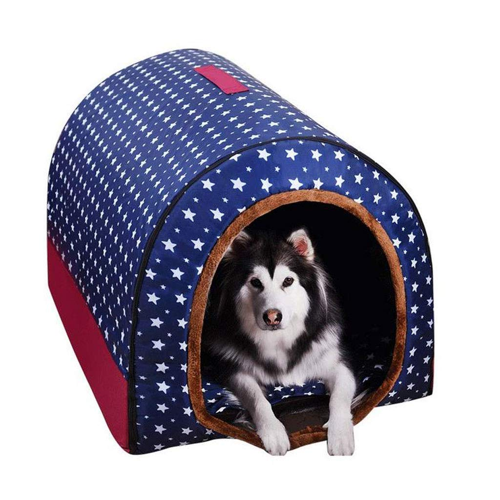 M LYX1,Pet Bed Large Dog Kennel Winter Warm Washable Pet Nest Medium Dog golden Hair Indoor Dog House (Size   M)
